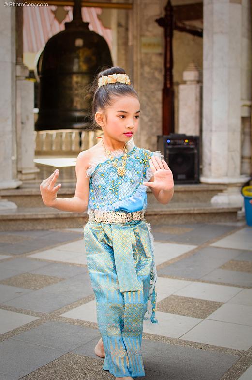 little girls dancing with makeup, chiang mai, thailand