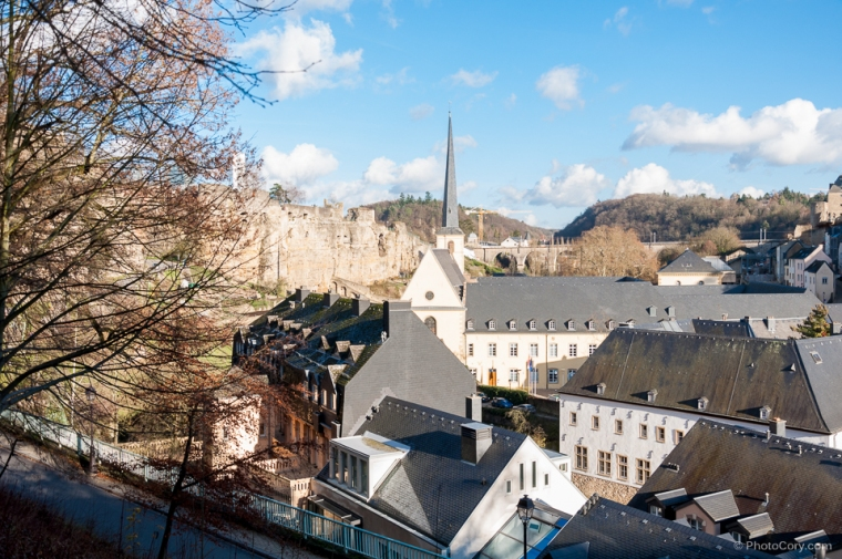luxembourg low city view