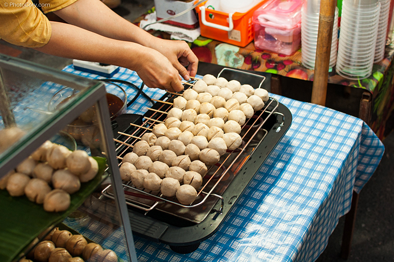 meat balls street food thailand