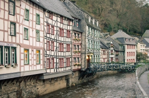 monschau, half timbered houses, case structura lemn