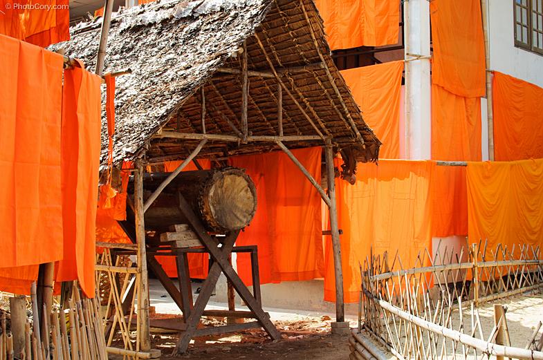 orange cloths for monks