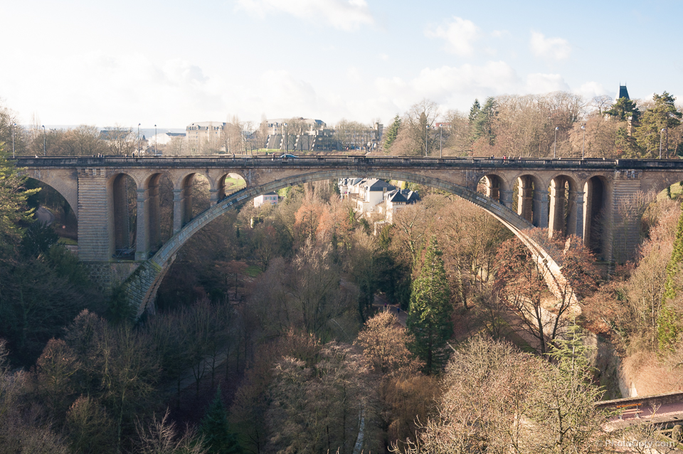 The adolphe bridge in Luxembourg