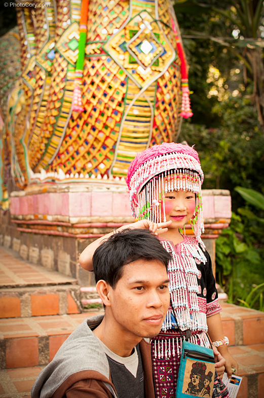 wat doi suthep chiang mai, children