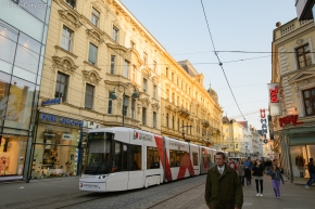 Linz, Austria, tram, old center