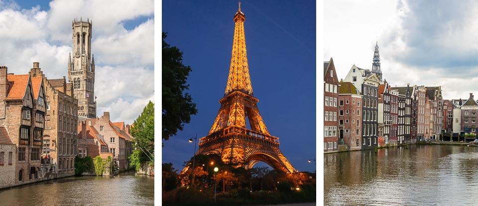 Brugge, Paris, Amsterdam