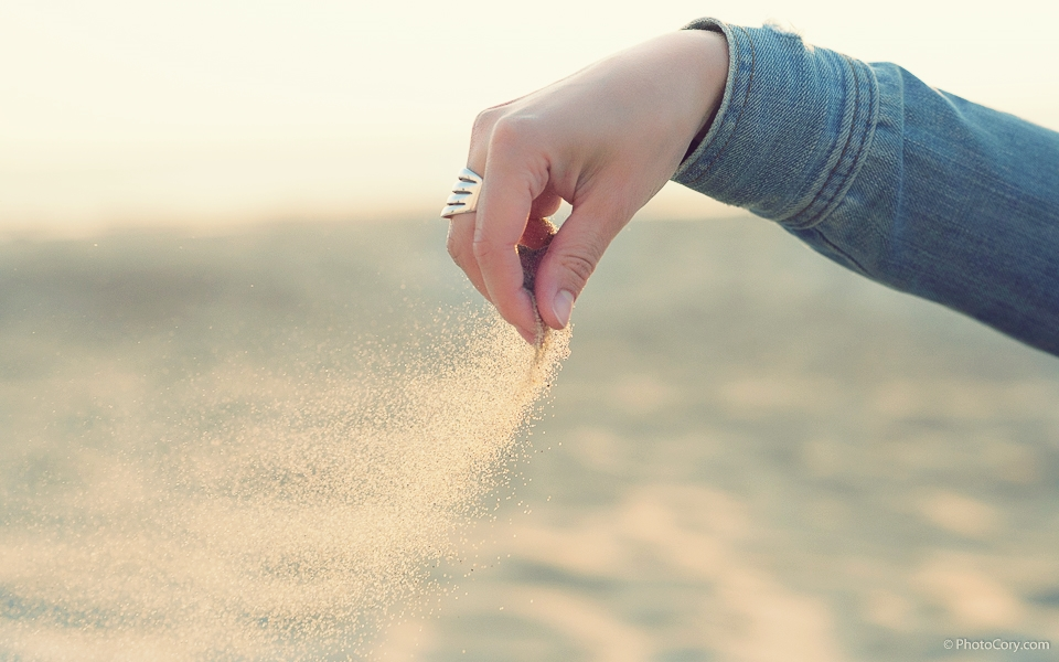 sand in wind
