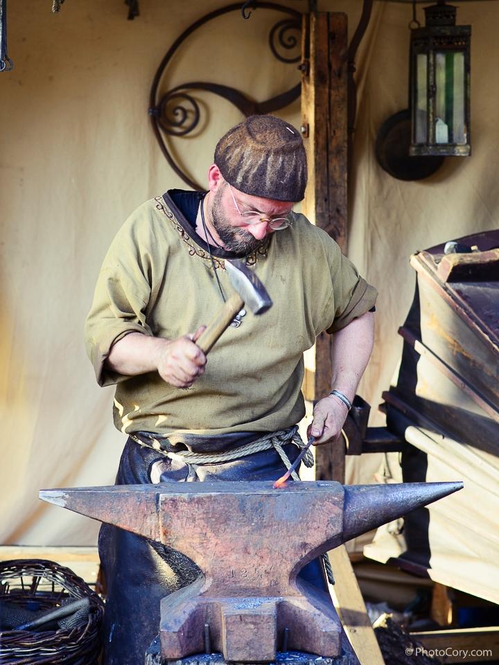 blacksmith medieval market Bruxelles Belgium