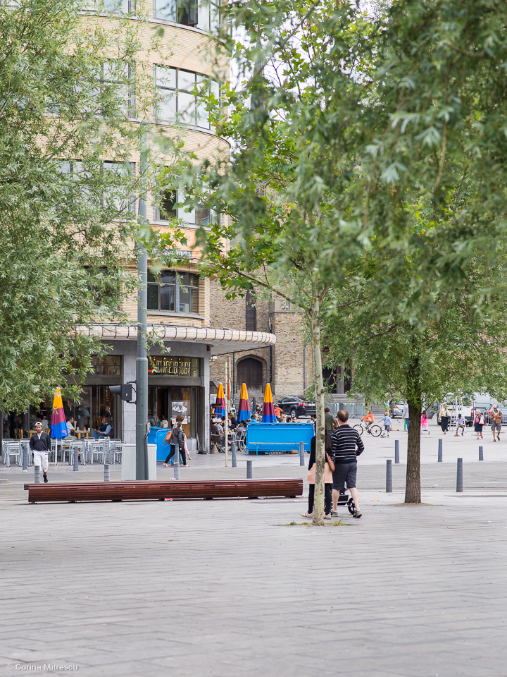 place Flagey and cafe belga