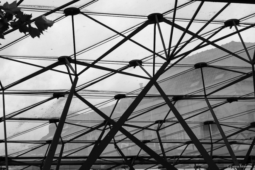 glass roof tram station flagey