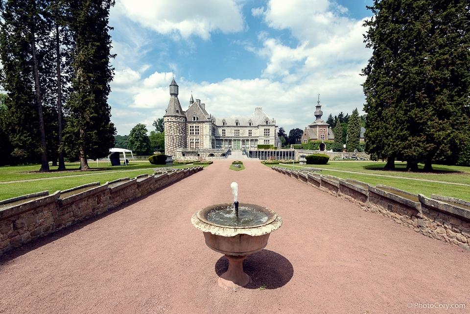 garden jehay castle belgium