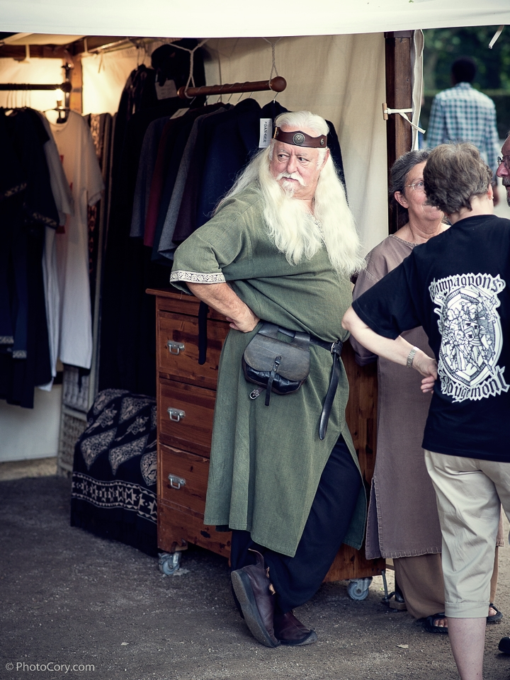 man with long white hair medieval clothes