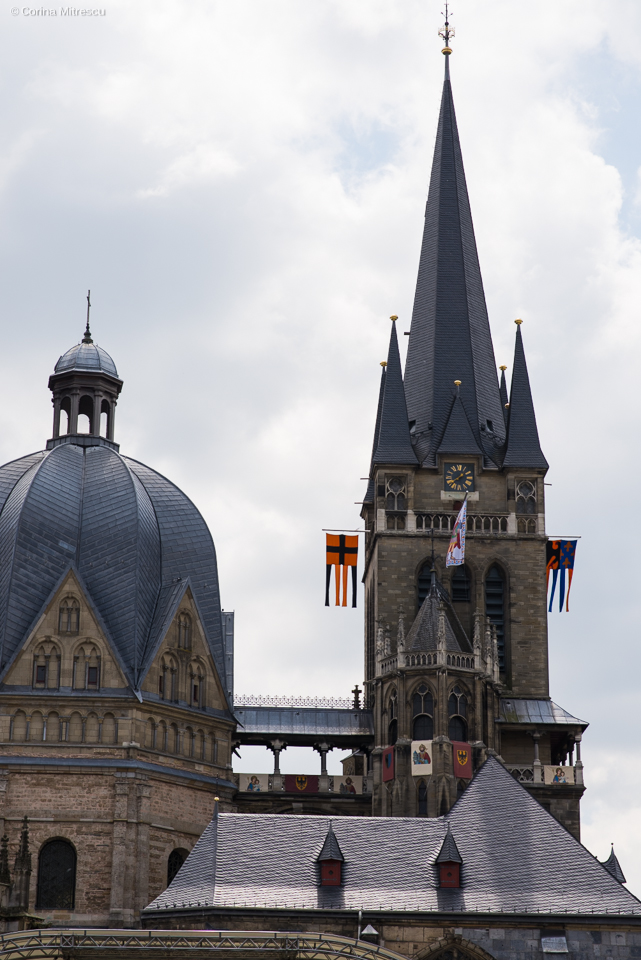 towers cathedral aachen
