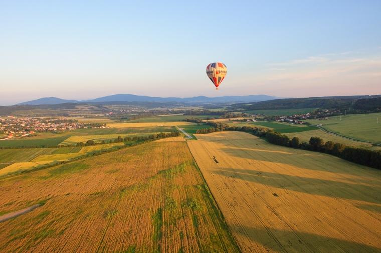 balloon field sunset kosice slovakia