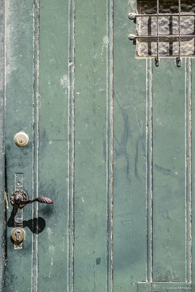 door, knob, window