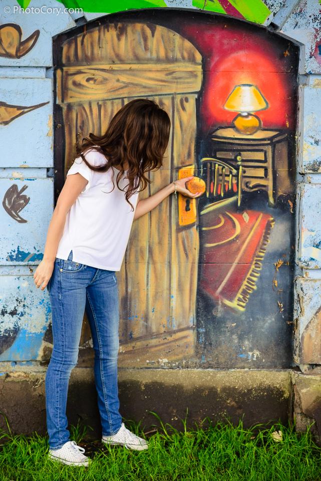 graffitti door lac genval belgium
