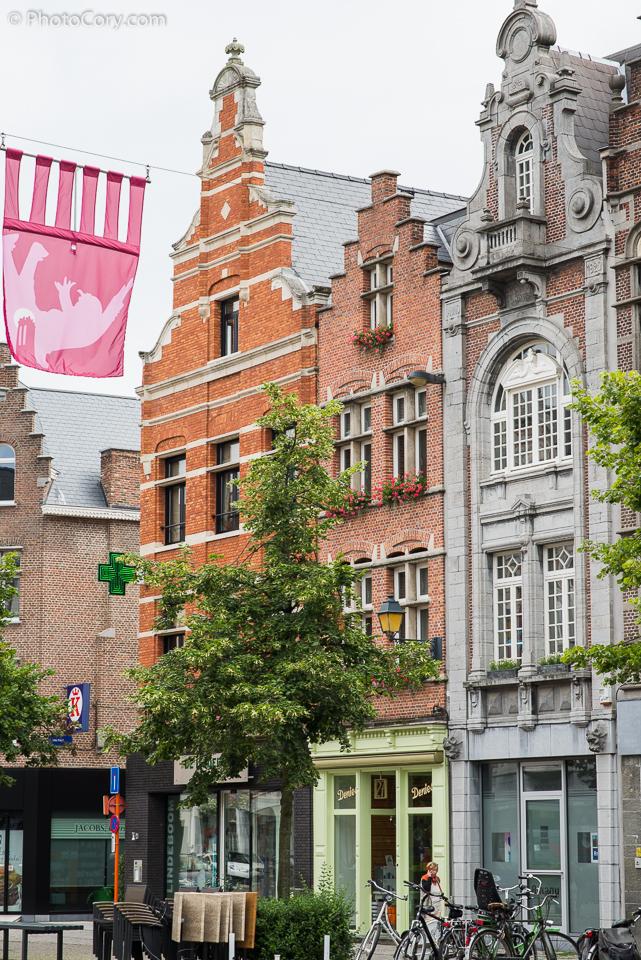 mechelen belgium brick houses architecture
