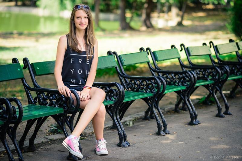 portrait park girl