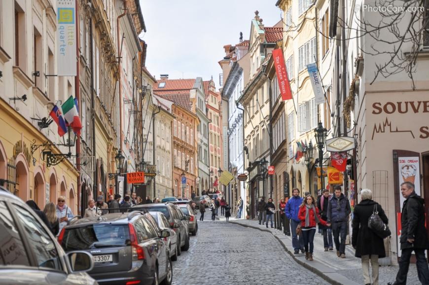 prague cobbled street