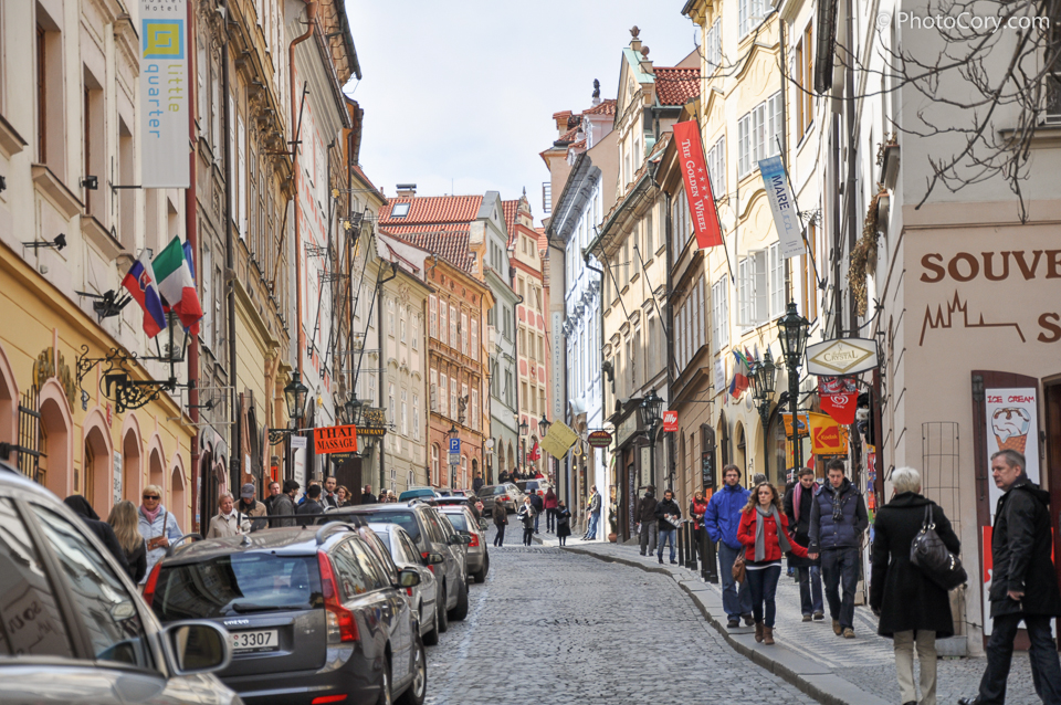 prague cobbled street