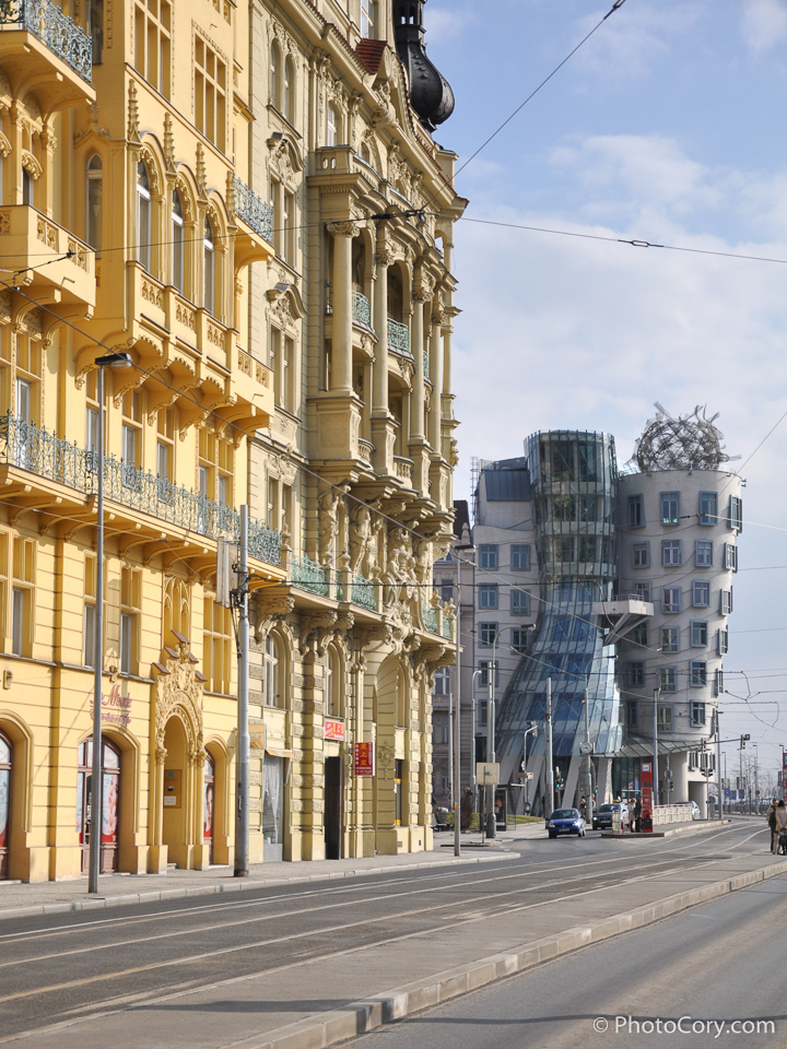prague, dancing house, fred and ginger