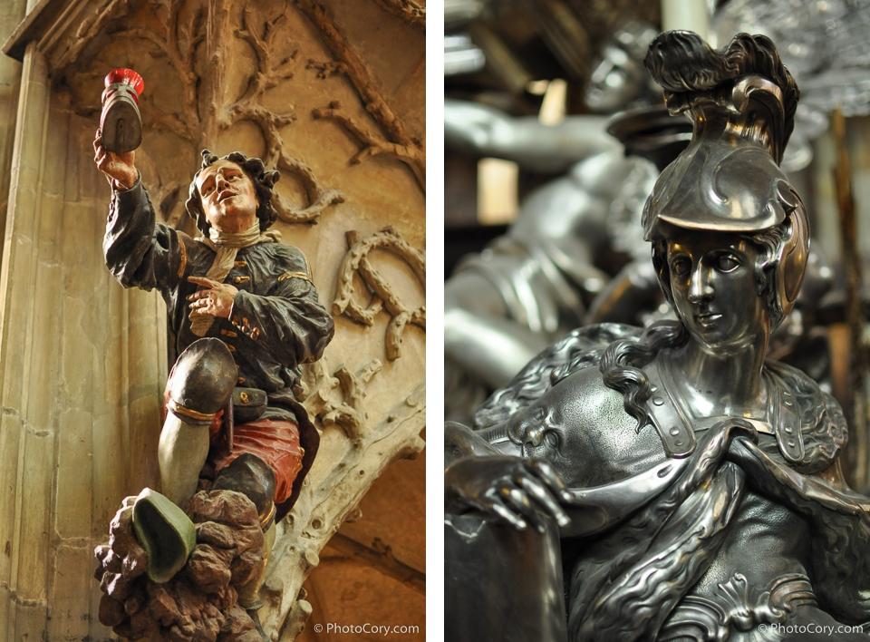 statues st vitus cathedral prague praha