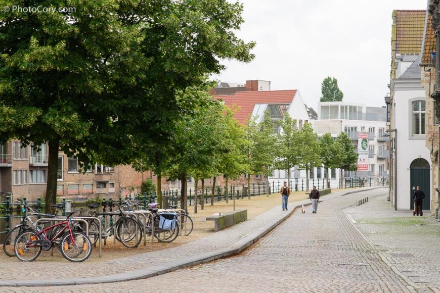 street in Mechelen Bikes