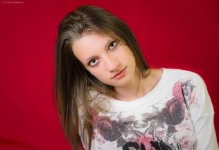 teenager studio portrait