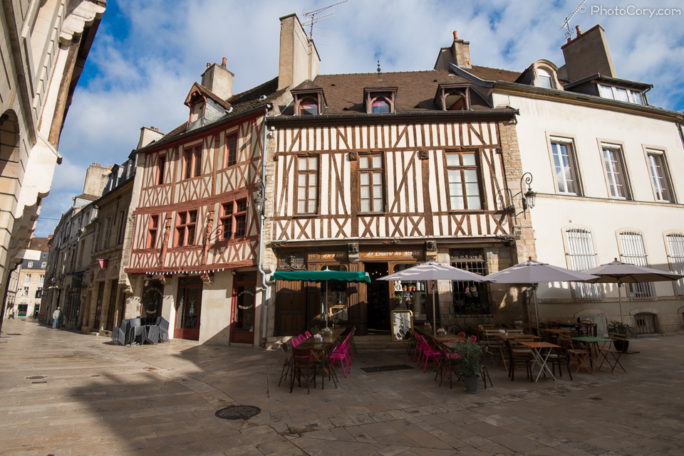 half timbered houses in dijon france
