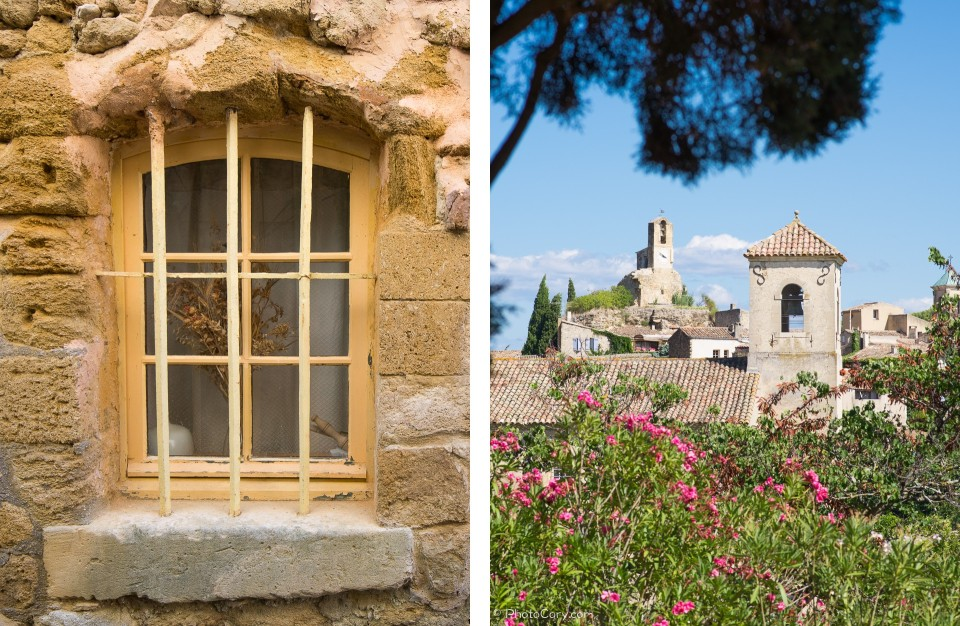 lourmarin window and belfry