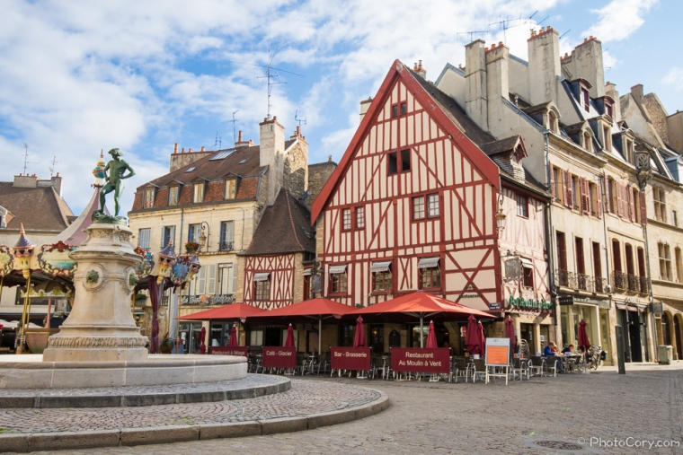 red timbered house dijon
