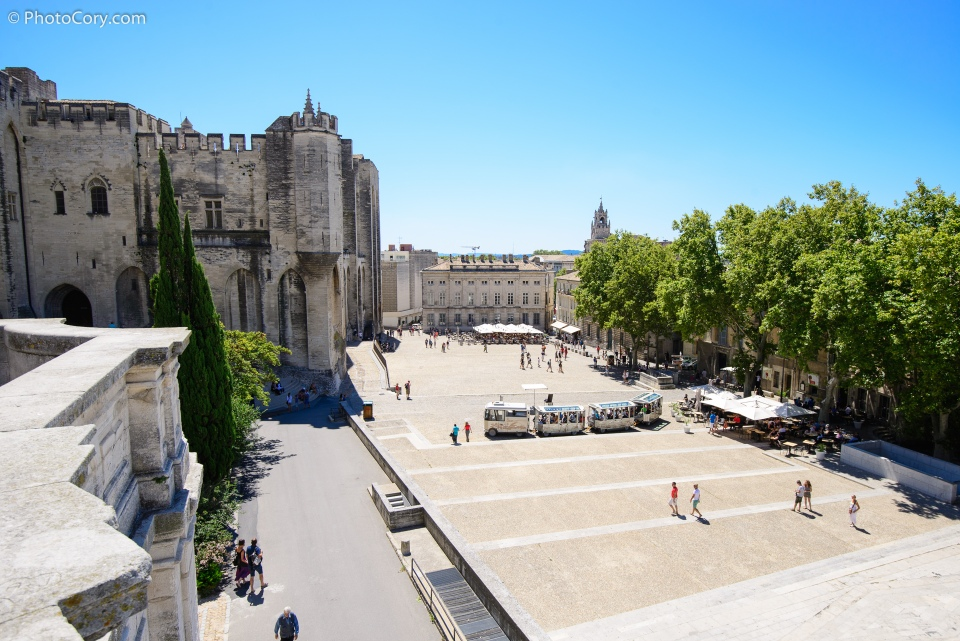 avignon view from palais des papes