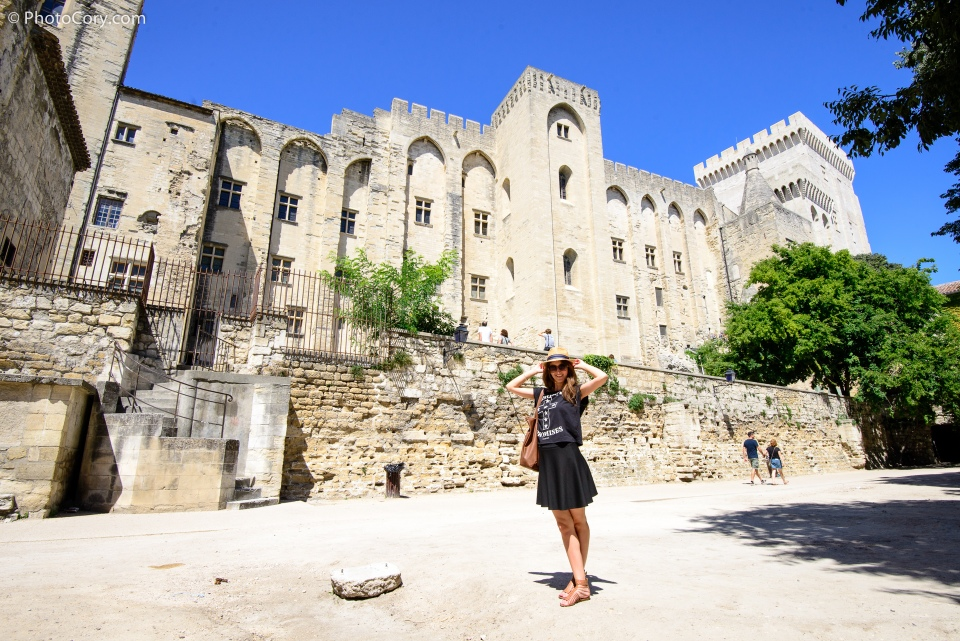 behind palais des papes in avignon