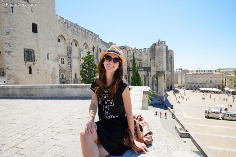 papal palace in avignon france