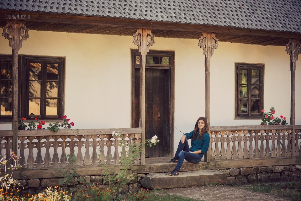 beautiful house at village museum in bucharest romania