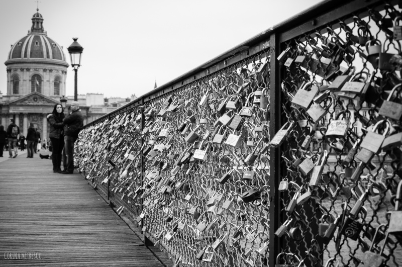 love locks on bridge in paris