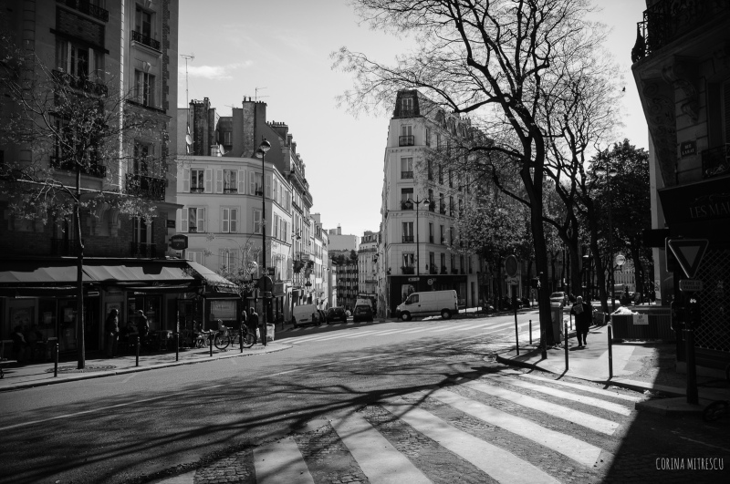 street in montmartre, paris, capital of france
