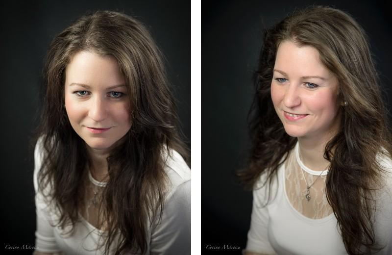 white blouse studio portrait headshot