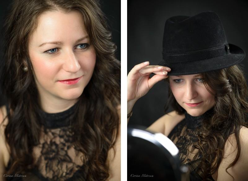 woman portrait studio photography