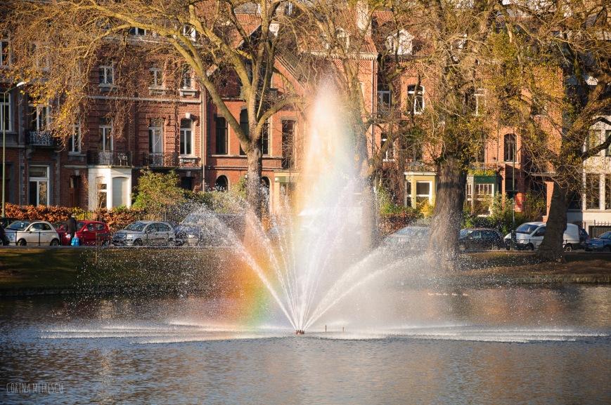 fountain rainbow