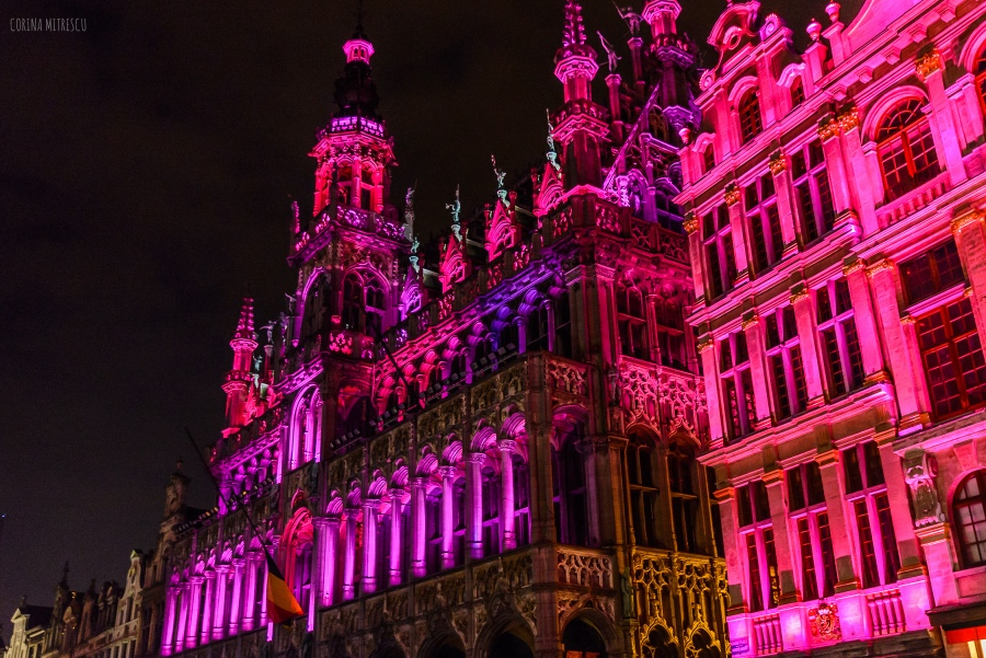 light show christmas grand place bruxelles