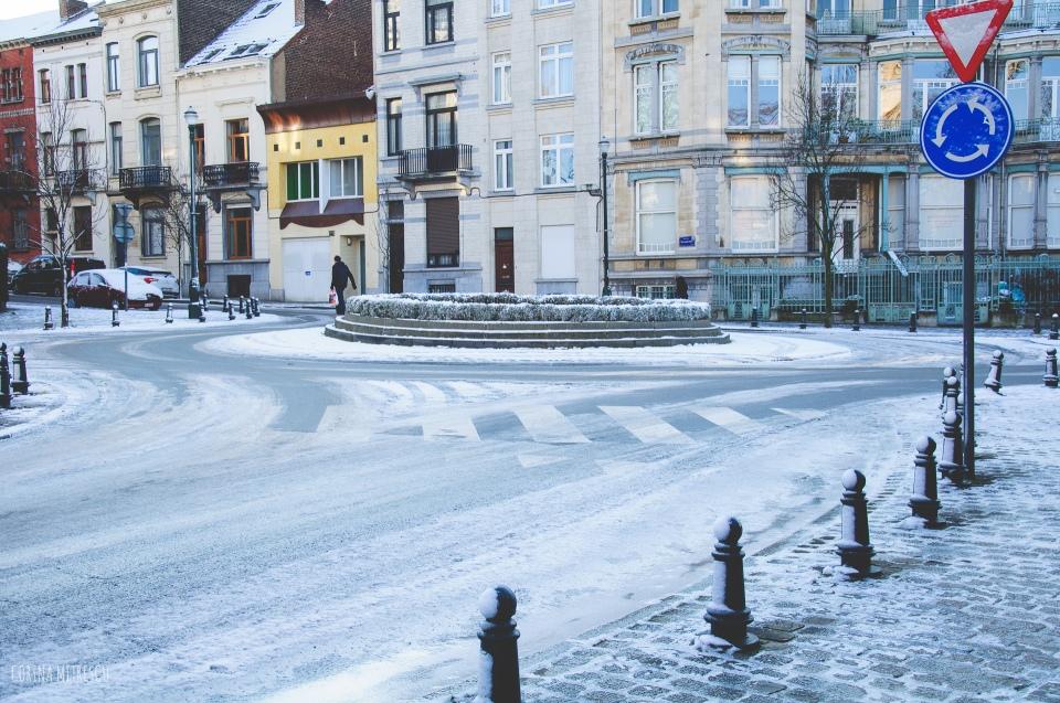street snow brussels 28 december 2014