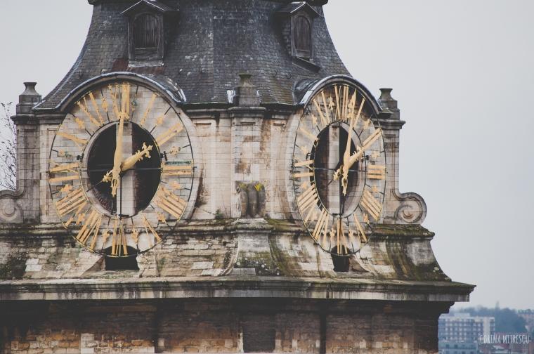 tower clock saint catherine brussels