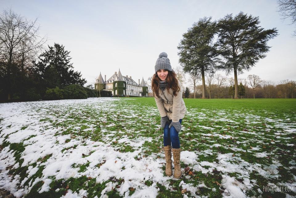 la hulpe castle snow