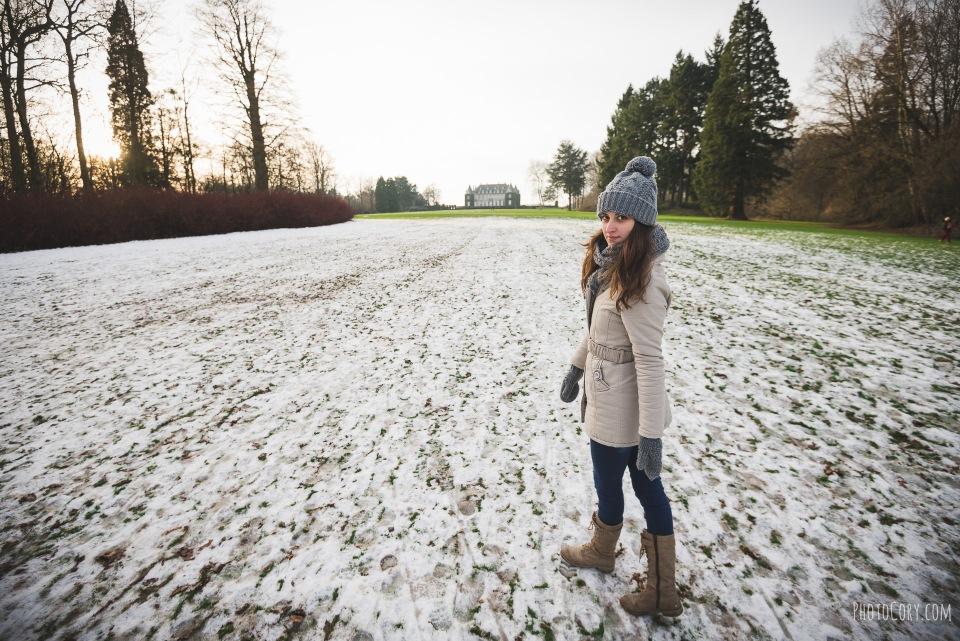 la hulpe with snow