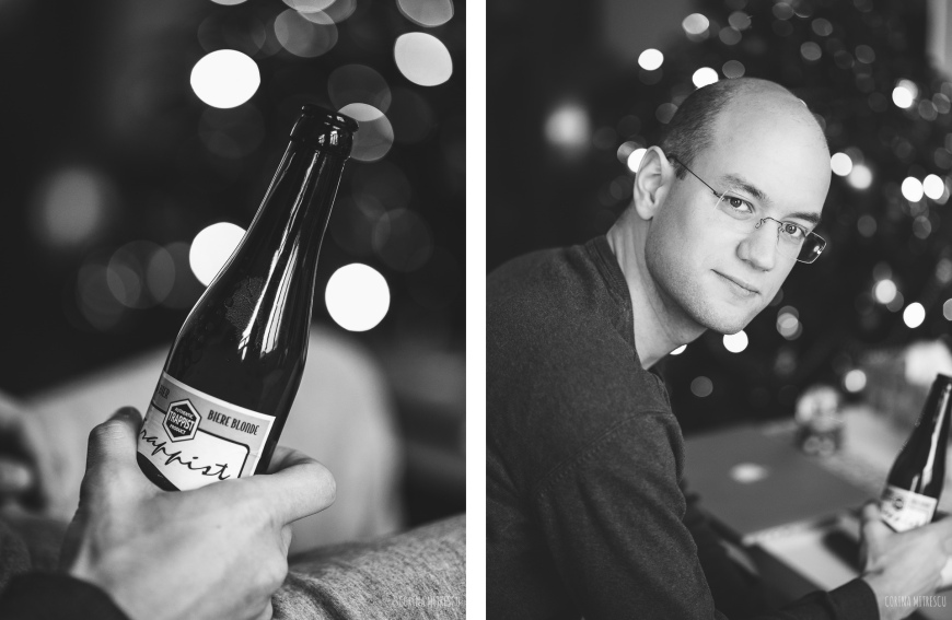 vlado with beer black and white