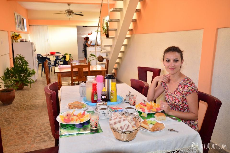 breakfast in casa particular cuba