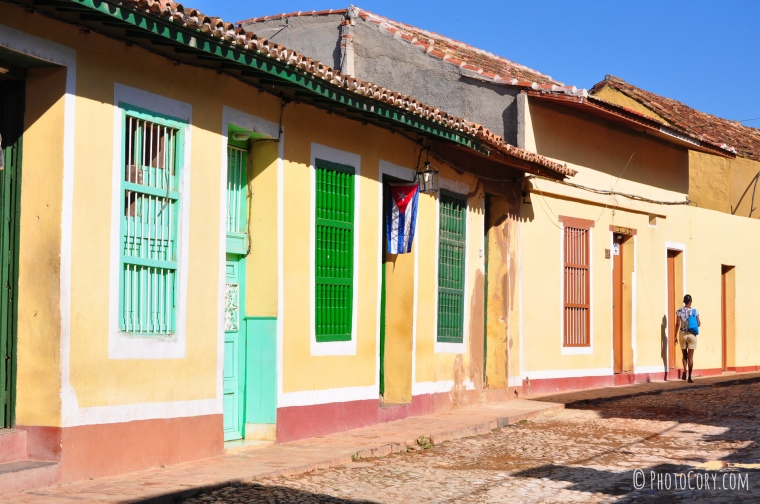 colored houses cuba trinidad