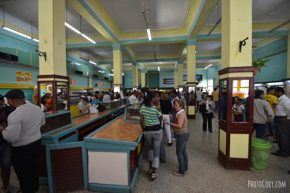 empty market place habana