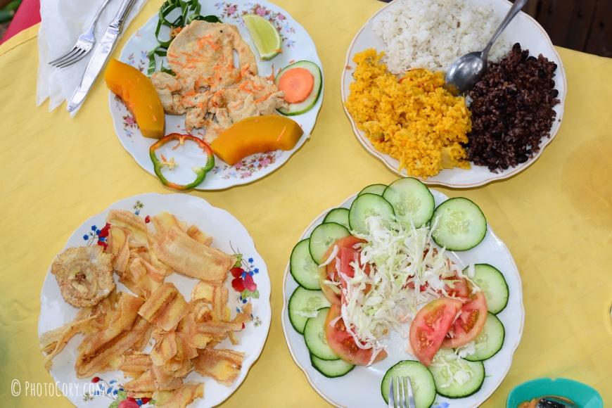 food in cuba rice black beans salad