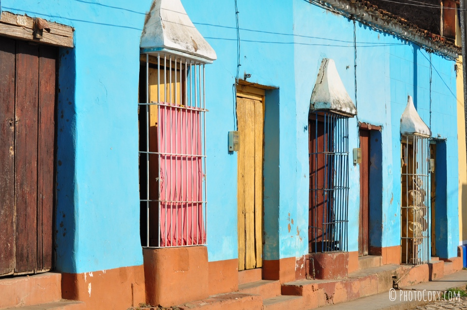 houses and windows in cuba trinidad